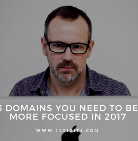 3 Domains you need to be more focused in 2017