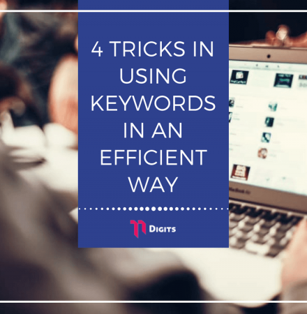 4 tricks in using keywords in an efficient way