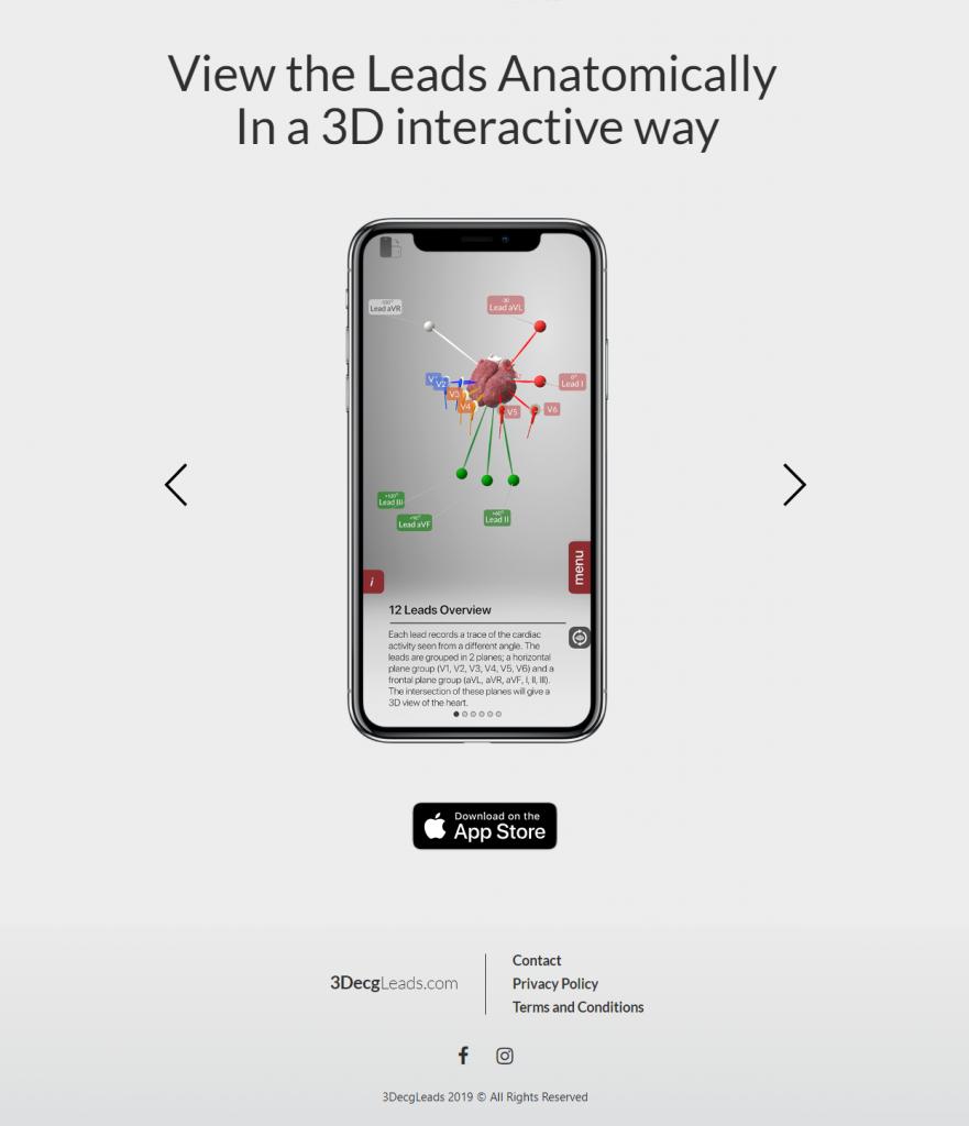 medical app web page